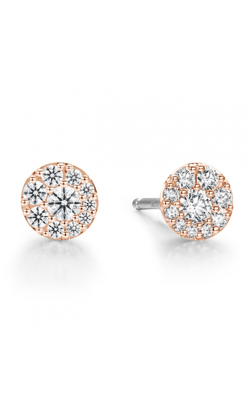 0.34 ctw. Tessa Diamond Circle Earrings in 18K Rose Gold product image