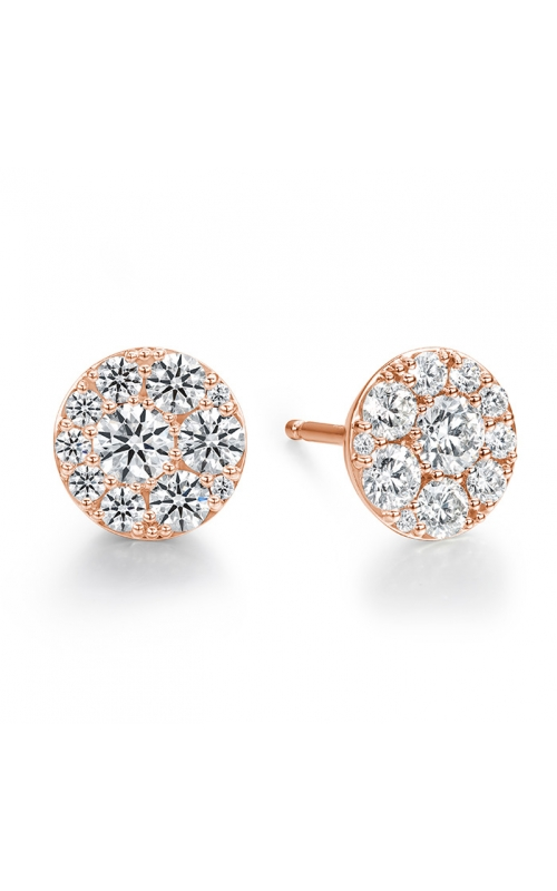 1.02 ctw. Tessa Diamond Circle Earrings in 18K Rose Gold product image