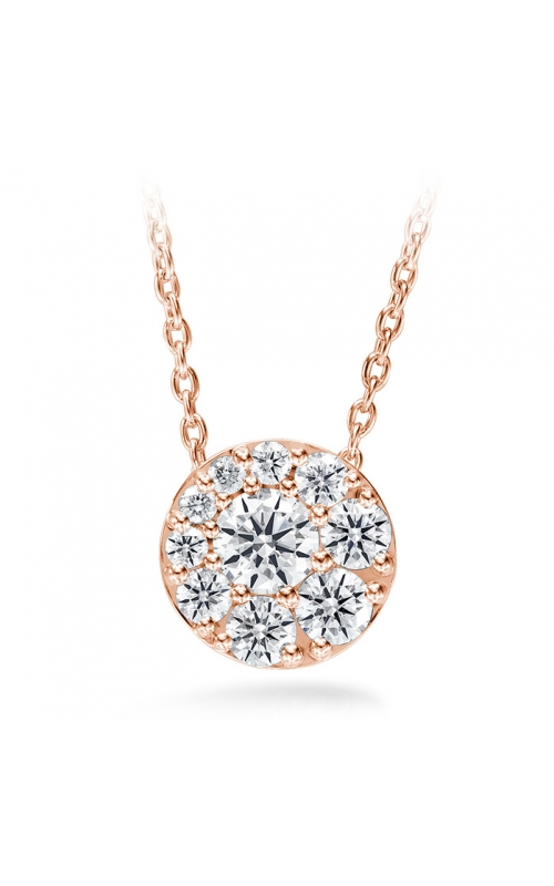 0.51 ctw. Tessa Diamond Circle Pendant in 18K Rose Gold product image