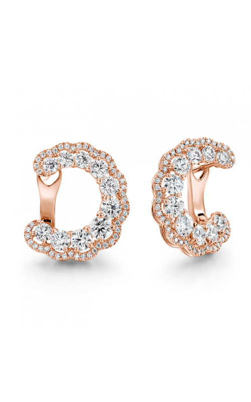 3.35 ctw. Aurora Hoop Earrings in 18K Rose Gold product image