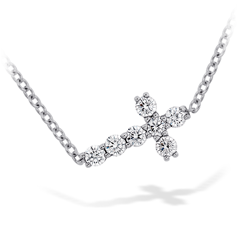 Charmed Horizontal Diamond Cross Necklace product image