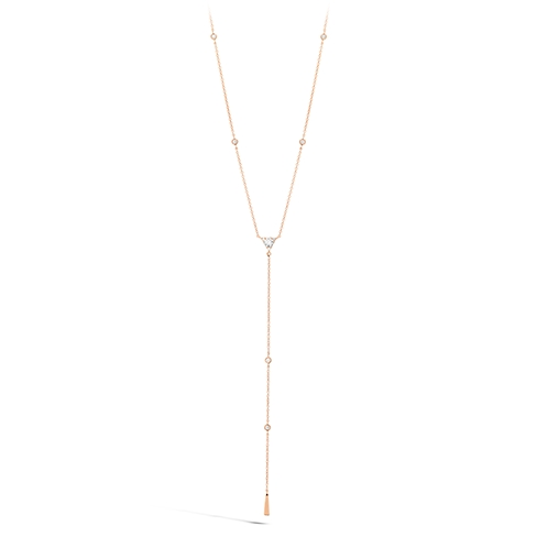 Triplicity Triangle Lariat Necklace product image