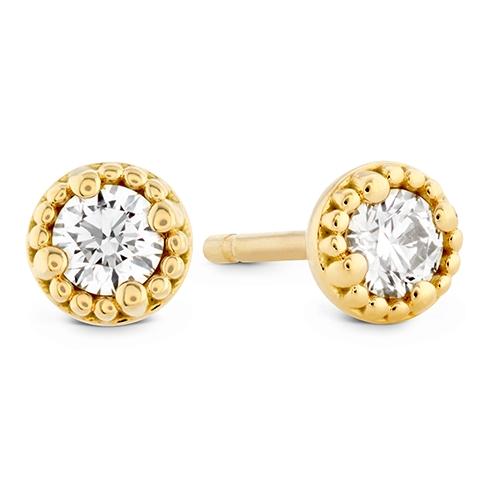 Liliana Milgrain Single Diamond Stud Earrings product image