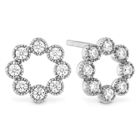 Liliana Milgrain Diamond Circle Earrings product image