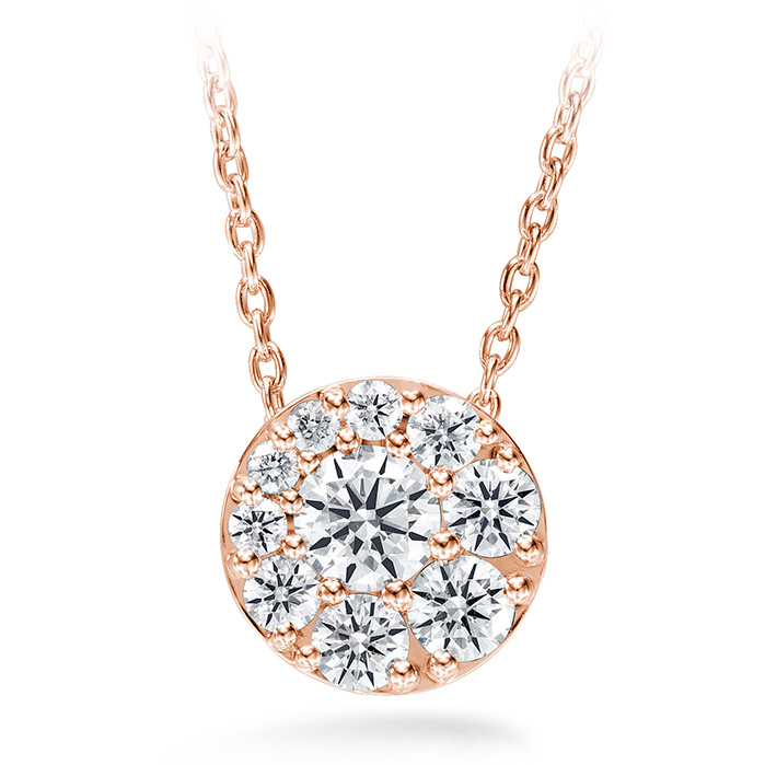 0.76 ctw. Tessa Diamond Circle Pendant in 18K Rose Gold product image