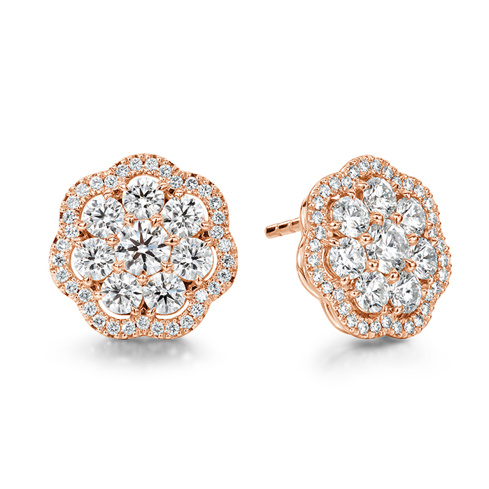 2.42 ctw. Aurora Cluster Earrings in 18K Rose Gold product image