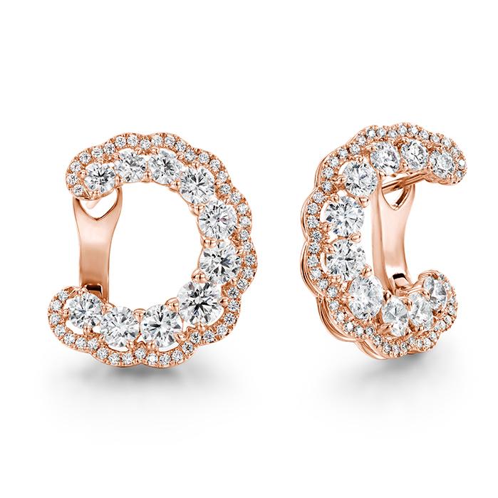 3.35 ctw. Aurora Hoop Earrings in 18K Rose Gold product image