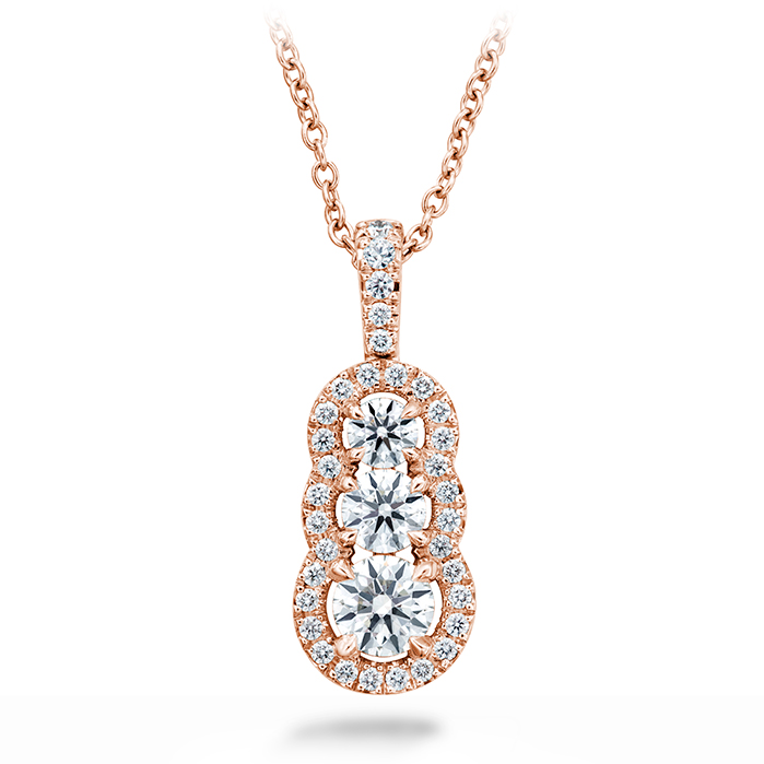 0.77 ctw. Aurora Pendant - Small in 18K Rose Gold product image