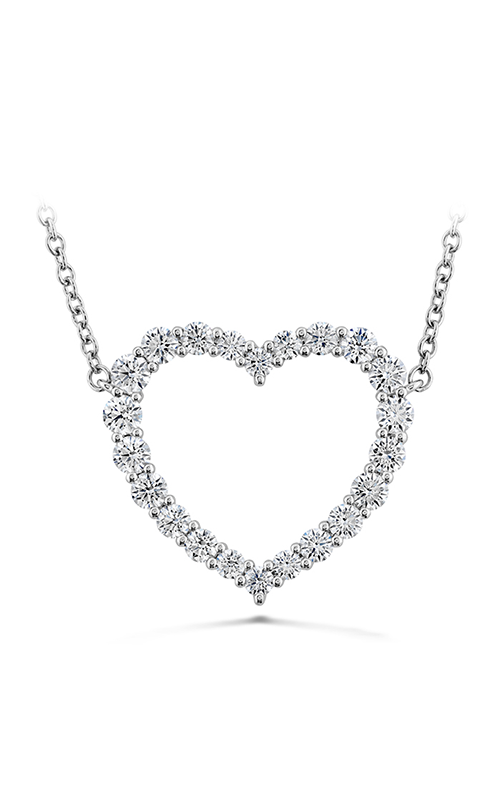Signature Heart Pendant - Large in 18K White Gold product image