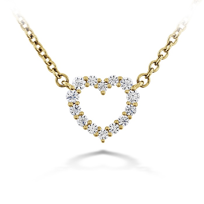 Signature Heart Pendant - Small in 18K Yellow Gold Necklace HFPSIGH00118Y product image