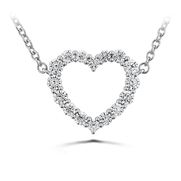 Signature Heart Pendant - Medium in 18K White Gold Necklace HFPSIGH00398W product image