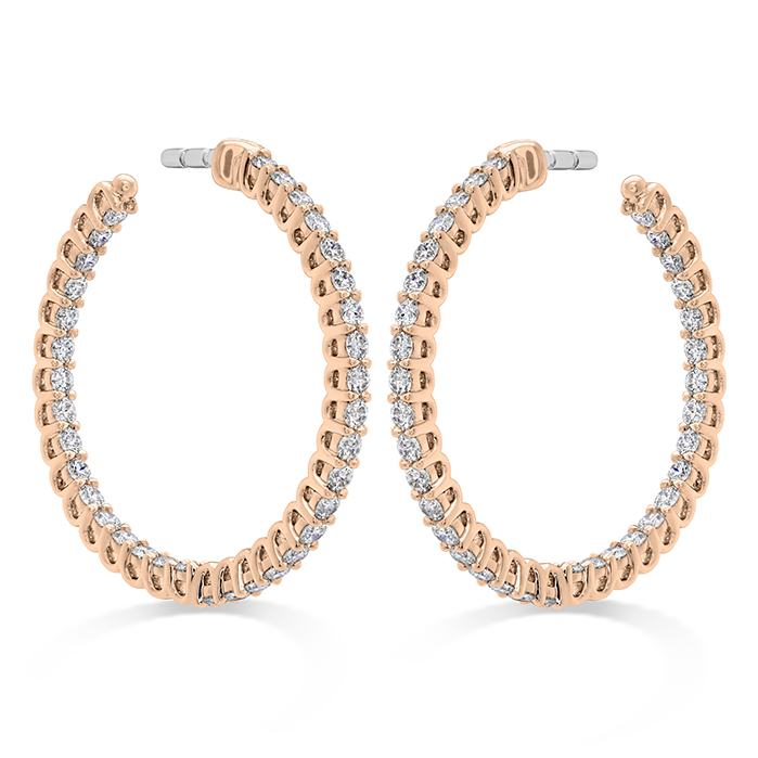 Signature Round Inside Out Hoop - Small in 18K Rose Gold Earrings HOOPSIGIO00878R product image