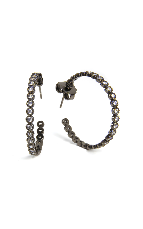 Henderson Luca Earring 1/2DollarHoop/BLk product image
