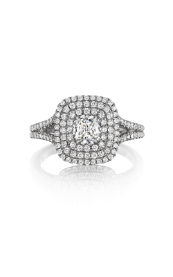 Henri Daussi Cushion Engagement Ring ADT product image