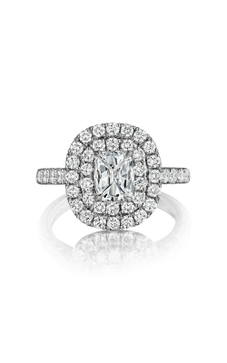 Henri Daussi Cushion Engagement Ring AQ product image
