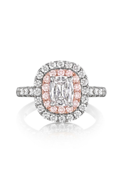 Henri Daussi Cushion Engagement Ring AQP product image