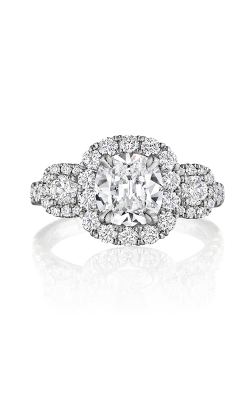 Henri Daussi Cushion Engagement ring ACMB product image