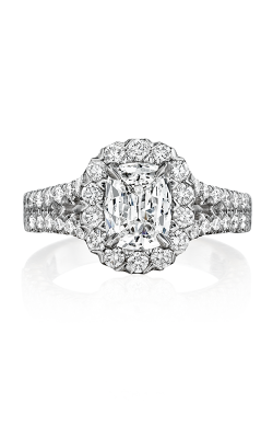 Henri Daussi Cushion Engagement Ring AKS product image