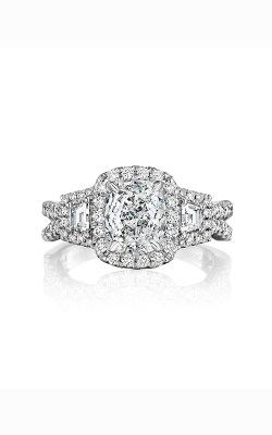 Henri Daussi Cushion Engagement ring ATRP product image