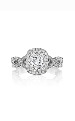 Henri Daussi Cushion Engagement ring ATWS product image
