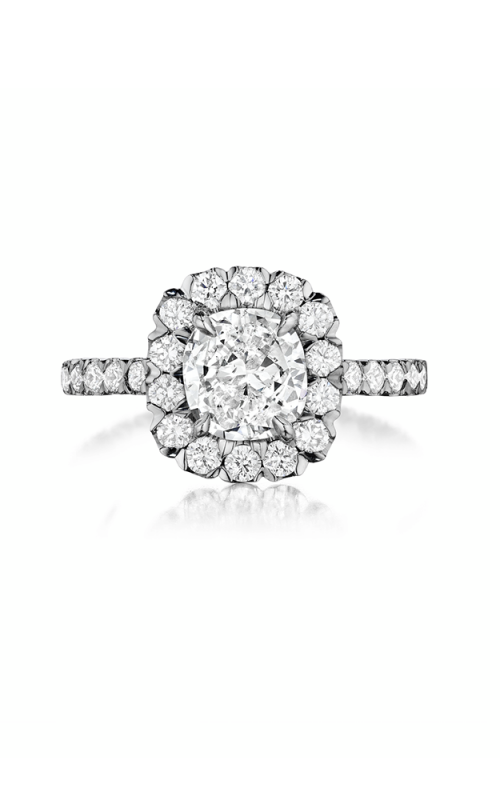 Henri Daussi Cushion Engagement ring AJK product image