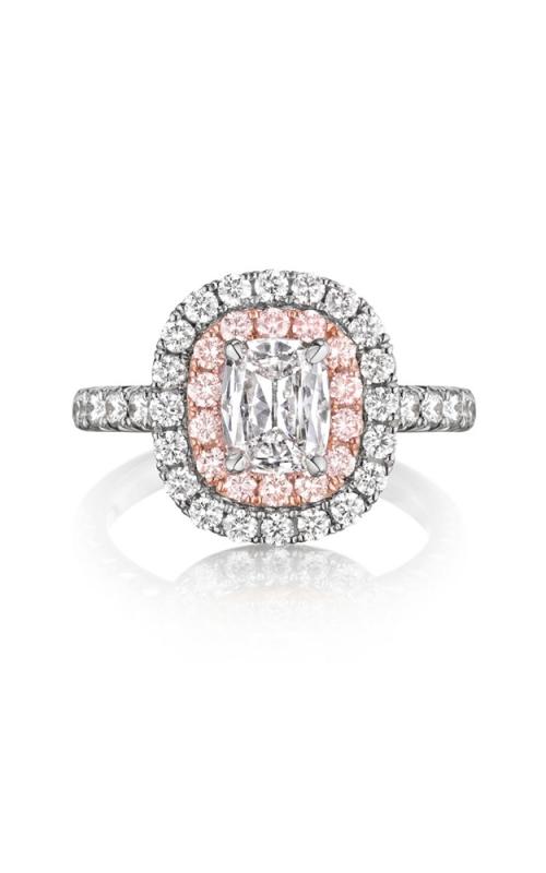 Henri Daussi Cushion Engagement ring AQP product image