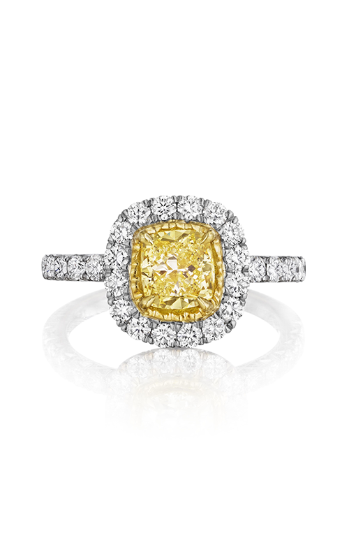 Henri Daussi Fancy Colors Engagement Ring AHWSY product image