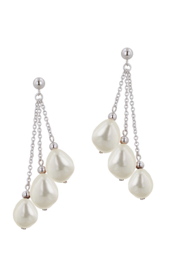 Honora White Classic Earrings LE4415WH product image