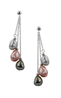 Honora Pink Tuxedo Earrings LE4415PTX product image