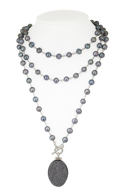 Honora Rock Star Black Necklace LN5610BL48 product image