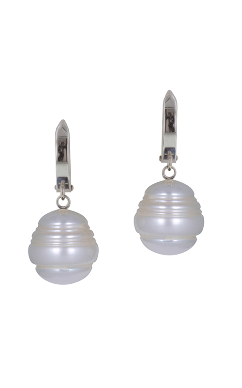 Honora White Classic Earrings LE5554WH product image