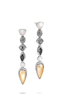 John Hardy Classic Chain Earrings EZS90518WMOHEBN product image