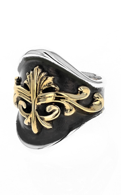 Large Round-Edge KB Scroll Shield Ring product image