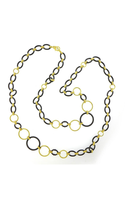 Lagos Gold & Black Caviar Necklace 04-10487-CB36 product image