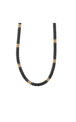 Lagos Gold & Black Caviar Necklace 04-10443-CB18 product image