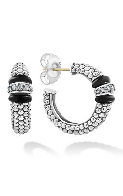 Lagos Black Caviar Earrings 01-81922-CB product image