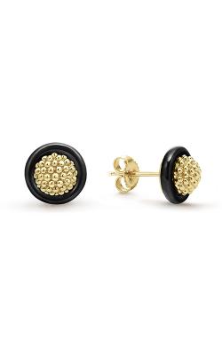 Lagos Gold & Black Caviar Earring 01-11094-CB product image