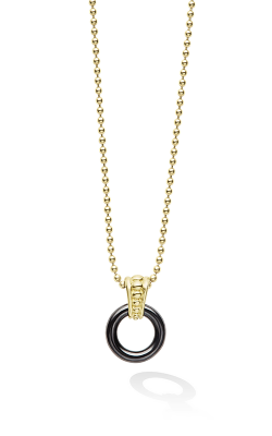 Lagos Gold & Black Caviar Necklace 07-10215-CBML product image