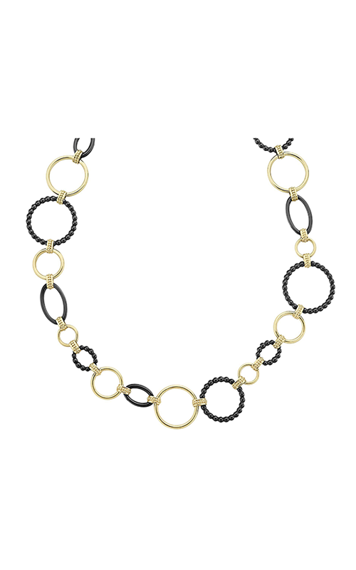 Lagos Gold & Black Caviar Necklace 04-10486-CB18 product image