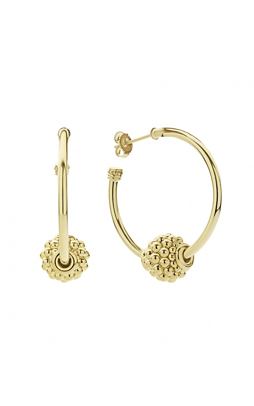 Lagos Caviar Gold Earrings 01-11038-00 product image