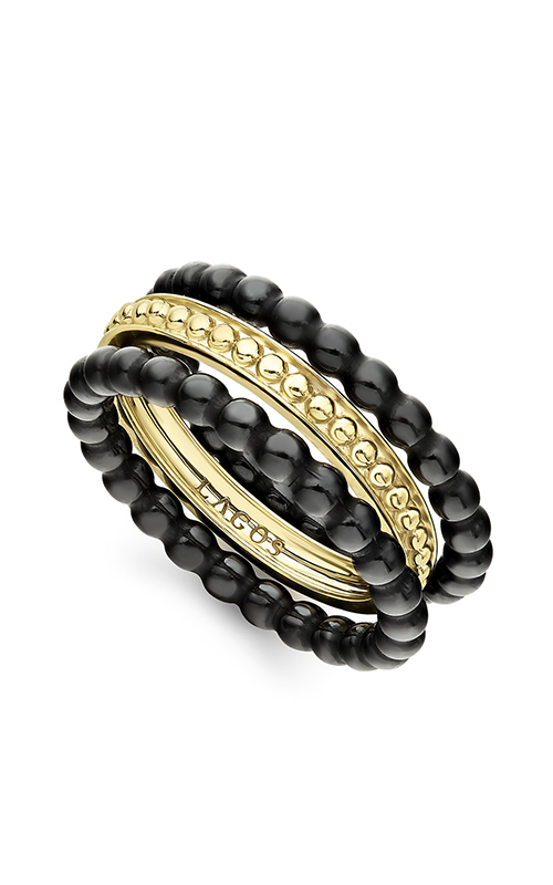 Lagos Gold & Black Caviar Fashion ring 02-10289-CB7 product image