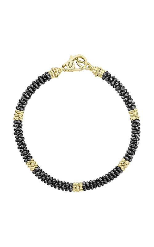 Lagos Gold & Black Caviar Bracelet 05-10273-CBM product image