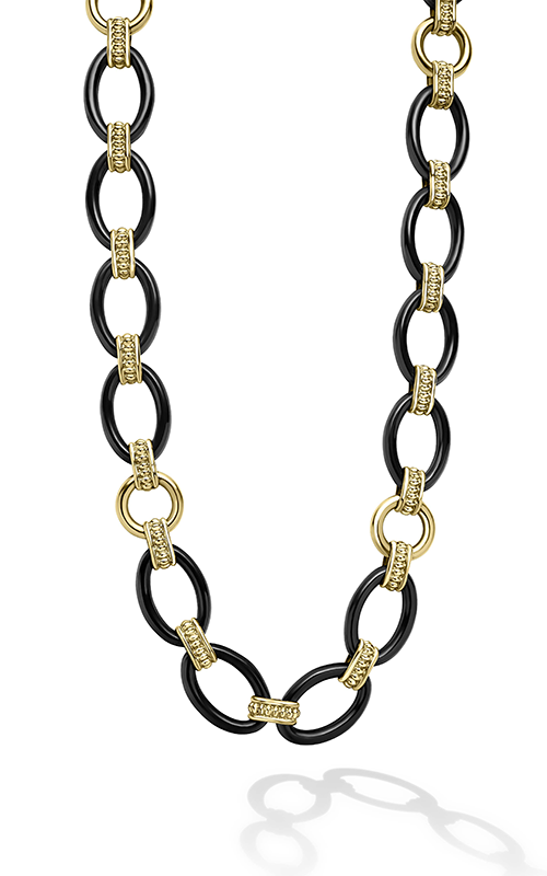Lagos Gold & Black Caviar Necklace 04-10532-CB18 product image