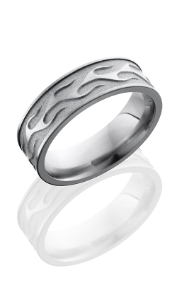 Lashbrook Titanium Wedding band 7FCONTOURFLAME product image