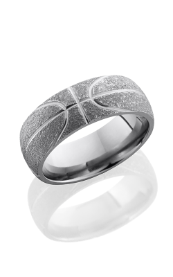 Lashbrook Titanium Wedding Band 8D BASKETBALL STIPPLE product image