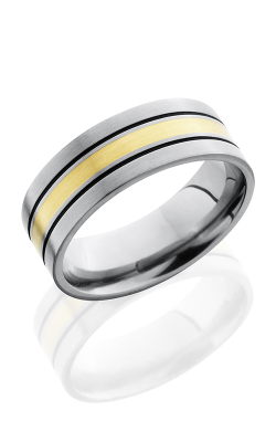 Lashbrook Titanium Wedding Band 8F12A 14KY product image
