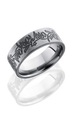 Lashbrook Titanium Wedding Band 8FANTLERS product image