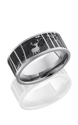 Lashbrook Titanium Wedding Band 9F LCVELKMOUNTAIN SATIN product image