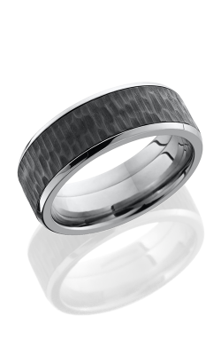 Lashbrook Zirconium Wedding band PF8B16 Z TREEBARK 1 POLISH product image