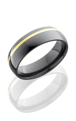 Lashbrook Zirconium Wedding Band Z6D11OC-14KY BEADBLAST product image